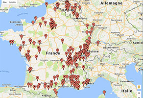Carte Google France Suisse Belgique