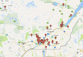 Carte Google Québec